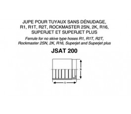 Jupe à sertir JST213